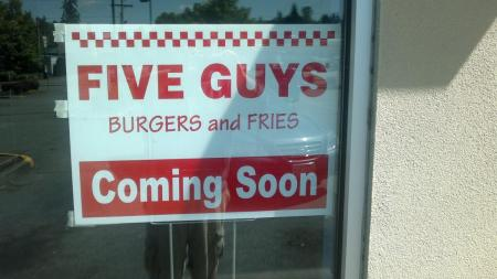 Five Guys Burgers and Fries in Bothell's Canyone Park