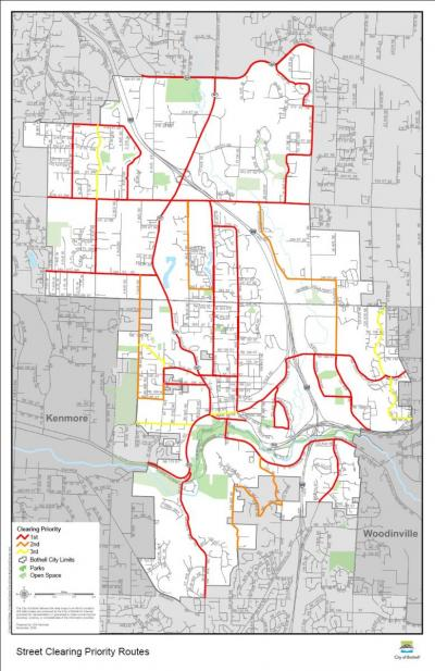Bothell Snow Plow and Street Clearing Routes