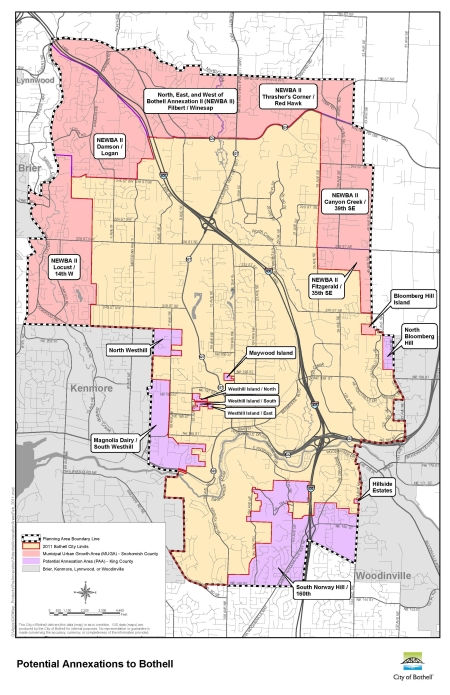 Bothell's Annexation Areas.