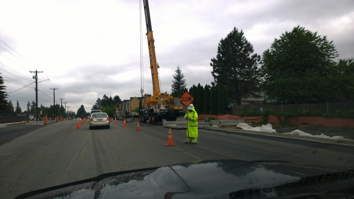 Bothell SR-527 construction means delays at night