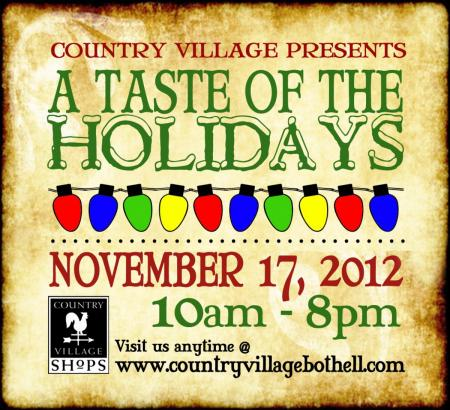Taste of the Holidays at Bothell Country Village Shops