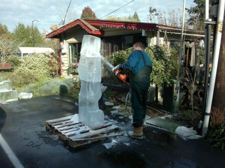 Ice Cold Bothell'sIce Carver David Westberg Shows Some Skills
