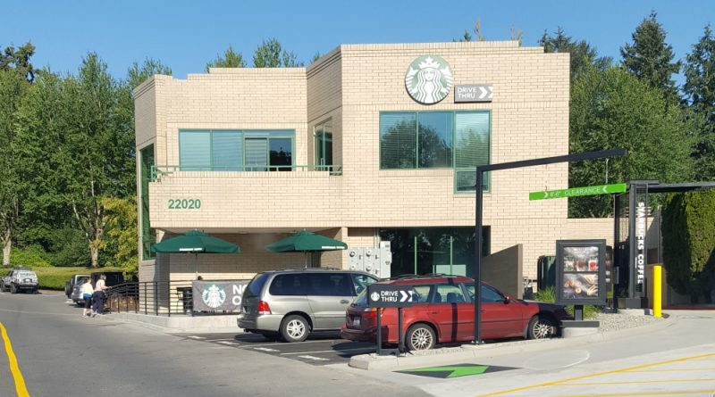 Canyon Park Starbucks in Bothell. Drive through!