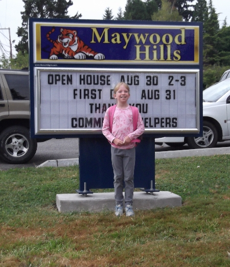 First day of school of Bothell Wa