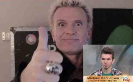 Billy Idol Might Play at Michael's Birthday Party