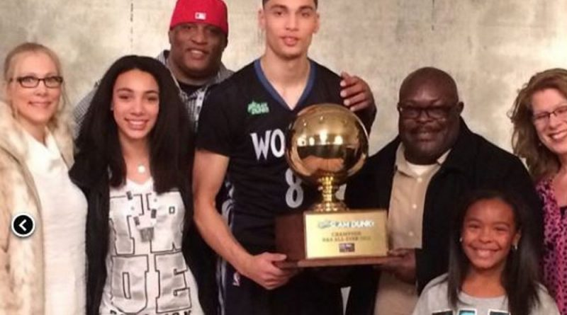 Zach LaVine and family from Bothell Highschool