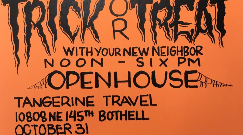 Bothell Halloween Open House at Tangerine Travel 2017