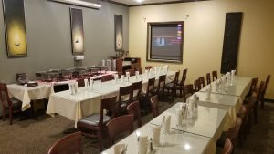 Dine India in Bothell Washington meeting room. Large events