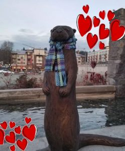 Valentine's Day in Bothell. Cute otter.