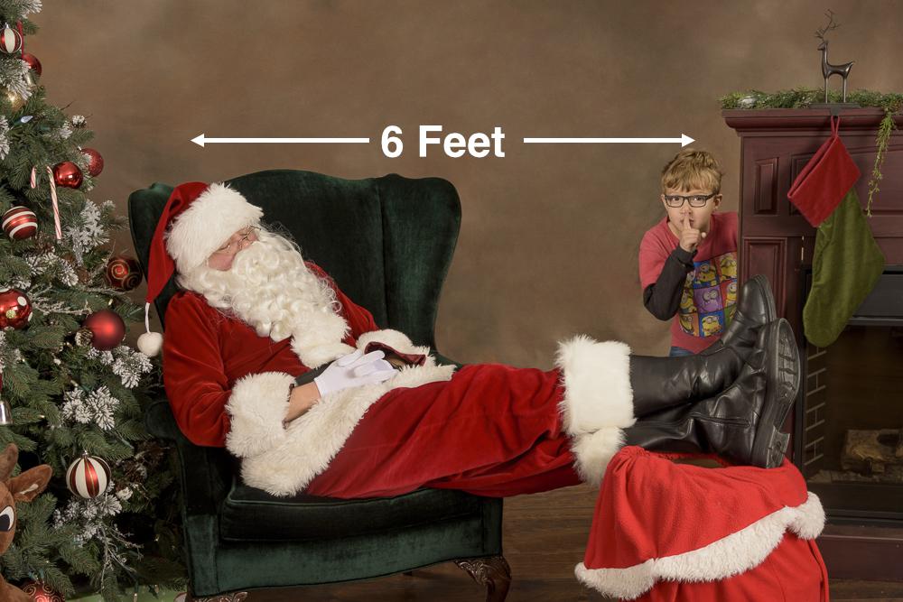 Northwest Santa Photos - Mill Creek 2020 - Safe Santa